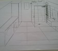Idée pose carrelage salle d'eau du bas