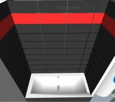 Salle de bain : Calepinage de la baignoire