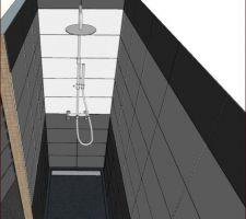 Salle d'eau : Calepinage de la douche
