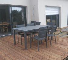 Terrasse bois, 1ere partie terminée