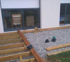 Terasse bois (40 m2) en cours