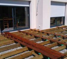 Terrasse bois (40m2) en cours