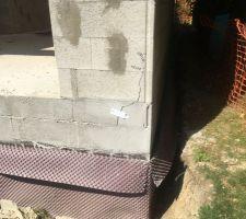 Fissure sur façade depuis le plancher