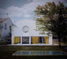 Vue sud de la future maison