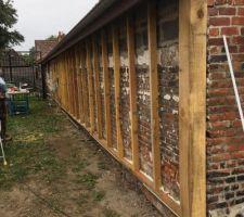 Isolation extérieure laine de bois mur sud