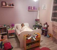 Réaménagement de la chambre d'elea.