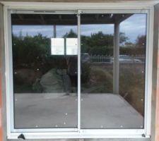 Baies vitrées du salon