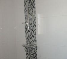 La colonne de douche de la salle d'eau