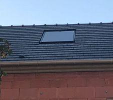 Mise en place du panneau photovoltaïque (avec des défaut qui doivent être corrigés)