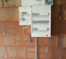 Tableau electrique en attente du compteur