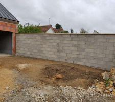 Mur de clôture fini