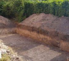 Terrassement mini-piscine 5x2