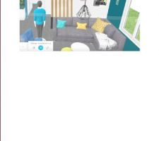 Salon avec claustra bois