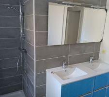 Faïence salle de bain terminée