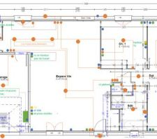 Plan du réseau életrique (fort et faible)
