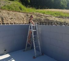 Montages des murs du sous sol