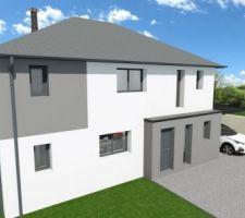 Vue 3D facade avant