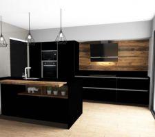 La vue 3D de notre future cuisine!