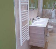 Vu ensemble sdb et radiateur sèche serviettes