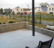 Pergola et terrasse en cours de réalisation