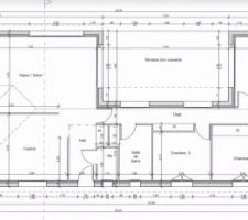 Le plan final de la maison. 133m² + 20 m² de garage.