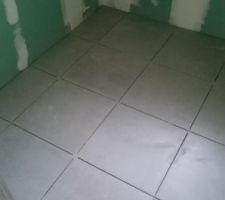 Carrelage salle de d'eau de la suite parentale PORCELANOSA PARK GRIS