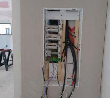 Préparation tableau électrique