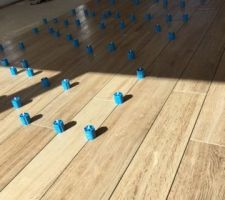 Carrelage espace séjour - cuisine SANT'AGOSTINO imitation bois
