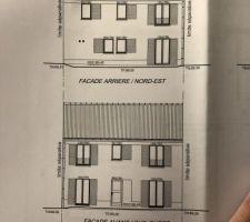Plan façade avant et arrière