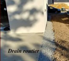 Drain routier/delta ms et regard en amont.