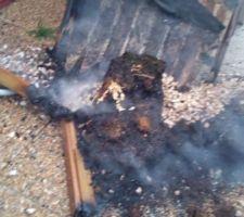 Carré potager brûlé