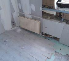 Mise en place des radiateurs et raccordement chaudière