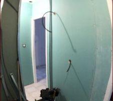 Placo salle d?eau et toilette