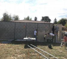 Mur avec les voisins - Tout le monde bosse
