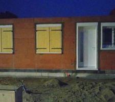 Fenêtre et porte posée