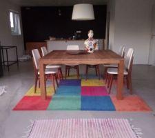 Je suis heureuse de retrouver les chaises que je avais chiné avant la construction de la maison