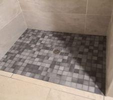 Mise en place de douche à l'italienne RDC