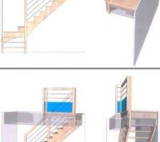 Dessin escalier