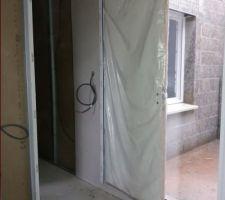 Porte intérieure posée