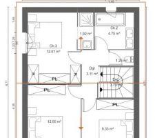 Plan et agencement etage