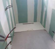Bac à douche en 140 cm posé (jacob delafond modèle surface)