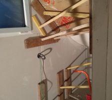 Sous-sol pièce 2 en cours isolation et plaquage