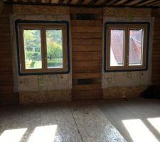 Fenêtres bois/alu triple vitrage des chambres