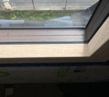 Détail des fenêtres bois/alu triple vitrage des chambres