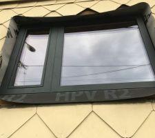 Fenêtres bois/alu triple vitrage 1/3 ouvrant 2/3 fixe de la cuisine
