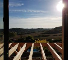 Terrasse ossature bois.