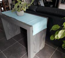Ma nouvelle table console extensible ;-)