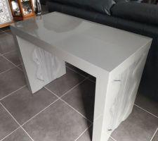 Ma nouvelle console ;-) L'autre table, j'en pouvais plus après 20 ans !!! MDR !!!