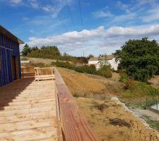 Terrasse ossature bois (douglas).