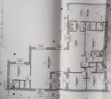 Plan de la maison, avec surfaces détaillés